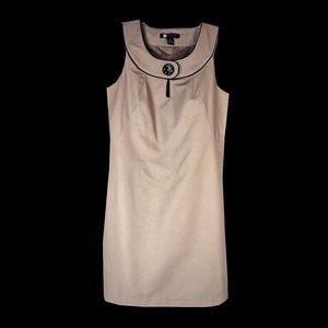 Carole Little Cotton Twill Mod Shift Dress - 10